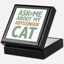 Abyssinian Cat Keepsake Box