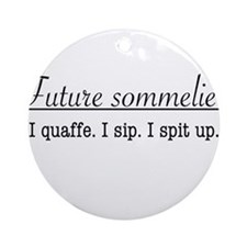 Future Sommelier Ornament (Round)