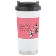 Cupid's Arrow Stainless Steel Travel Mug