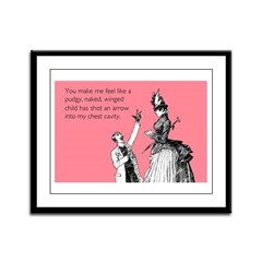 Cupid's Arrow Framed Panel Print
