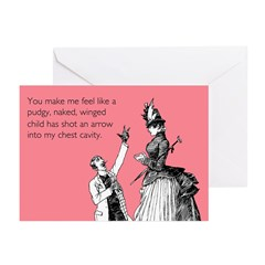 Cupid's Arrow Greeting Cards (Pk of 10)
