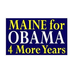 Maine for Obama 38.5 x 24.5 Wall Peel Decal