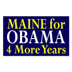 Maine for Obama: 4 More Years Bumper Sticker