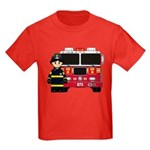 Firefighter and Fire Engine Kids T-Shirt