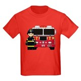 Fire engine Kids T-shirts (Dark)