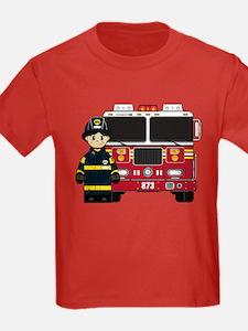 Fireman t shirts shirts tees custom fireman clothing for Custom fire t shirts