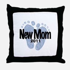 New Mom 2011 (Boy) Throw Pillow