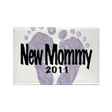 New Mommy 2011 (Unisex) Rectangle Magnet