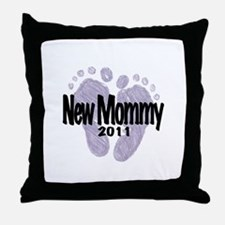 New Mommy 2011 (Unisex) Throw Pillow
