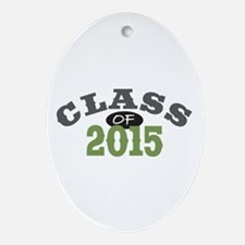 Class Of 2015 Green Ornament (Oval)