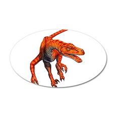 Velociraptor Raptor Dinosaur 22x14 Oval Wall Peel