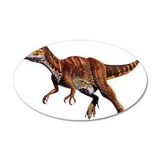 Allosaurus Jurassic Dinosaur 22x14 Oval Wall Peel
