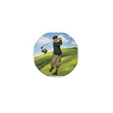 Vintage golf golfer style Mini Button (100 pack)