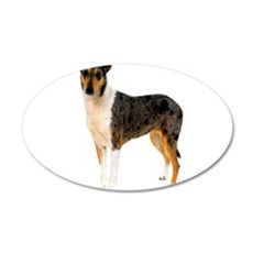 Smooth Collie Dog Lover 22x14 Oval Wall Peel