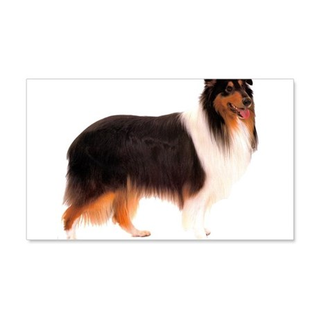 Black Rough Collie 22x14 Wall Peel