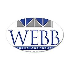 Webb Building 22x14 Oval Wall Peel