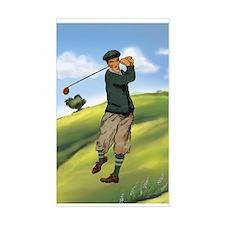 Vintage golf golfer style Decal
