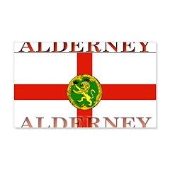 Alderney Flag 22x14 Wall Peel