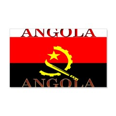 Angola Angolan Flag 22x14 Wall Peel
