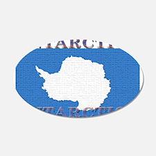Antarctica Flag 22x14 Oval Wall Peel