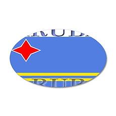 Aruba Aruban Flag 22x14 Oval Wall Peel