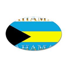 Bahamas Bahama Flag 22x14 Oval Wall Peel