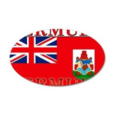 Bermuda Flag 22x14 Oval Wall Peel