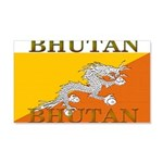 Bhutan Flag 22x14 Wall Peel