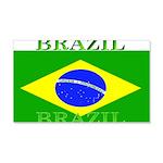 Brazil Brazilian Flag 22x14 Wall Peel