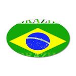 Brazil Brazilian Flag 22x14 Oval Wall Peel