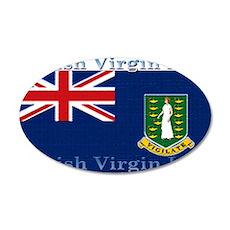 British Virgin Islands Flag 22x14 Oval Wall Peel