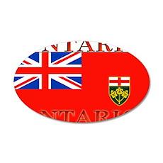 Ontario Ontarian Flag 22x14 Oval Wall Peel