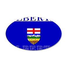 Alberta Albertan Flag 22x14 Oval Wall Peel