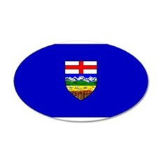 Alberta Albertan Blank Flag 22x14 Oval Wall Peel