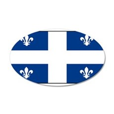 Quebec Quebecer Blank Flag 22x14 Oval Wall Peel