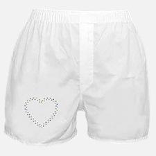 Prismatic Rainbow Pawprint Heart Boxer Shorts