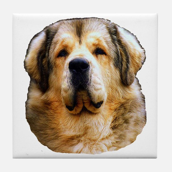 Unique Tibetan mastiff Tile Coaster