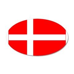 Denmark Danish Blank Flag 22x14 Oval Wall Peel