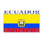 Ecuador Ecuadorian Flag 22x14 Wall Peel