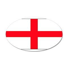 England English Flag 22x14 Oval Wall Peel