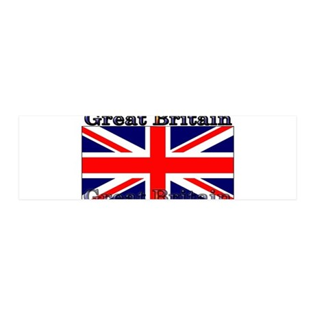 Great Britain British Flag 21x7 Wall Peel