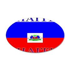 Haiti Haitian Flag 22x14 Oval Wall Peel