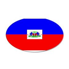 Haiti Blank Flag 22x14 Oval Wall Peel