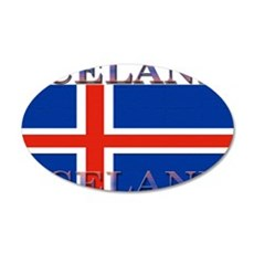 Iceland 22x14 Oval Wall Peel