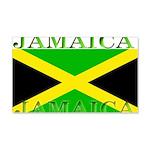 Jamaica Jamaican Flag 22x14 Wall Peel