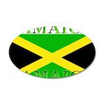 Jamaica Jamaican Flag 22x14 Oval Wall Peel