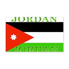 Jordan Jordanian Flag 22x14 Wall Peel