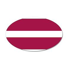 Latvia Latvian Blank Flag 22x14 Oval Wall Peel