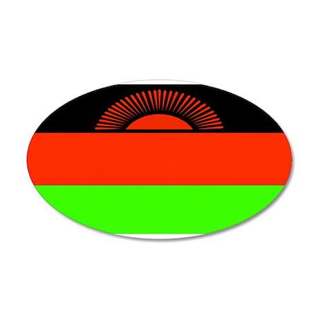 Malawi Blank Flag 22x14 Oval Wall Peel