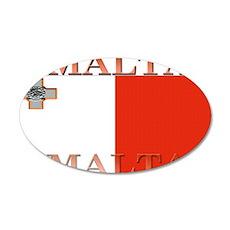 Malta 22x14 Oval Wall Peel